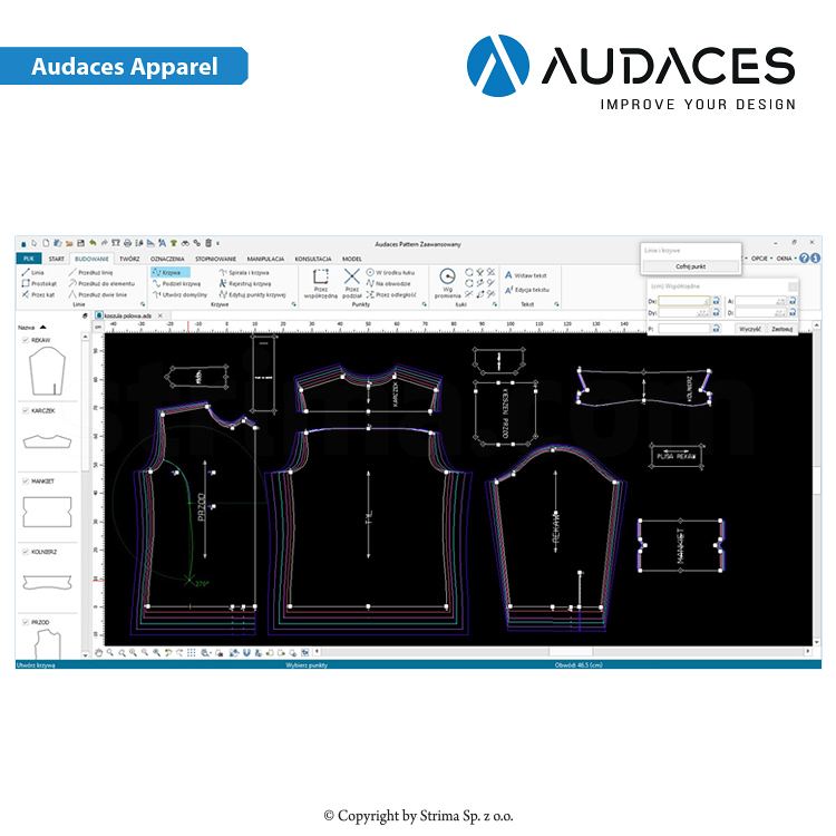 2 - AUDACES Apparel - Audaces Apparel - Pattern Design / Marker Making Standard - uživatelská licence