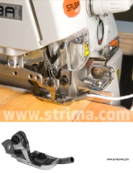 Net curtain overlock foot for sew - in lead weight
