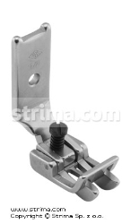 "Foot for two needle lockstitch machine 1/8"" with right and left gauges and adjustable runner angle"