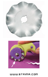 Rotary cutter blade 45mm, wave