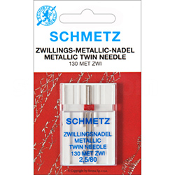 SCHMETZ needles 130 MET for embroider with the metallic threads, pair 80