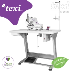 Button sewing machine with an electronic selection of stitches number and built-in AC Servo motor - the complete sewing machine with 2 years warranty - TEXI X PREMIUM EX