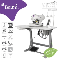 Electronic buttonhole machine - complete sewing machine - TEXI O PREMIUM