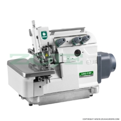 Zoje 3-thread overlock machine for light and medium materials, with direct drive type needle bar, built-in AC Servo motor and needle positioning - machine head