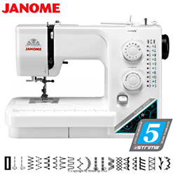 Multifunctional sewing machine, 21 stitch programs - JANOME JUBILEE 60507