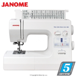 Multifunctional sewing machine for heavy materials - JANOME HD1800 EASY JEANS