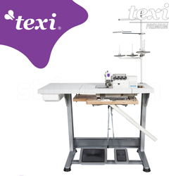 4-thread overlock machine with built-in AC Servo motor and needles positioning - complete sewing machine - TEXI QUATTRO 24 T PREMIUM