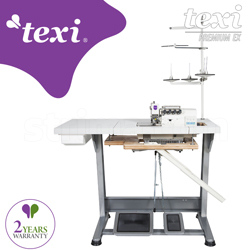 4-thread overlock machine with built-in AC Servo motor and needles positioning - complete sewing machine