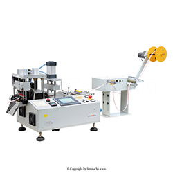Automatic, multifunction, hot knife cutting machine (bevel cutter) with automatic tape feeding - JM-150HX