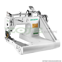 Feed-off-arm chainstitch machine with puller and energy-saving AC Servo motor - complete sewing machine