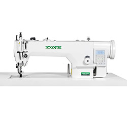 Upholstery and leather lockstitch machine with built-in AC Servo motor and control box (Mechatronic), compound feed, large hook - head only