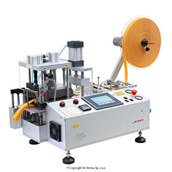 Automatic, multifunction hot & cold knife cutting machine (right angle) with automatic tape feeding - JM-150LR