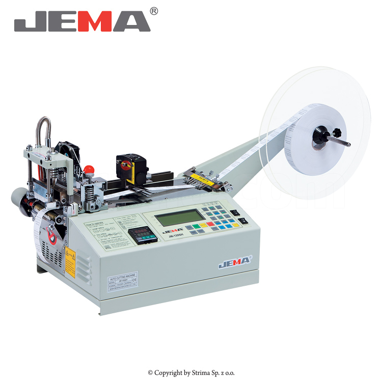 JM-120SH - Automatic hot knife label cutting machine (right angle) with a laser sensor for measuring labels length