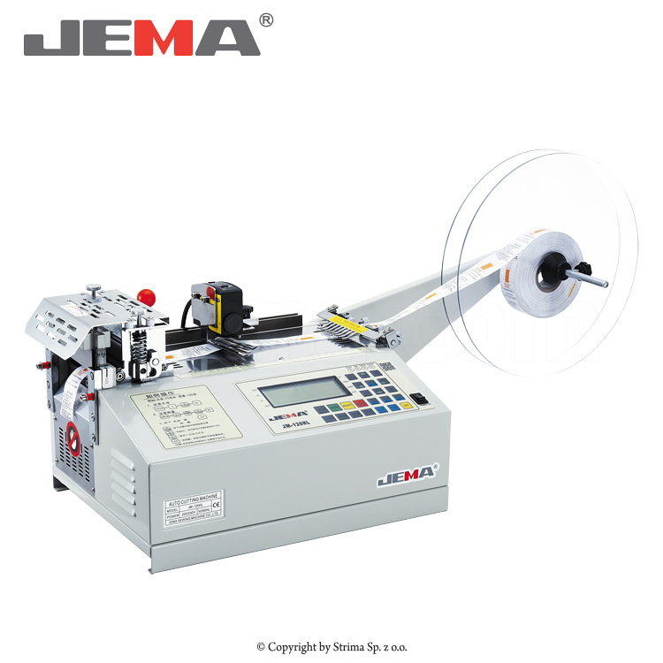 JM-120HL - Automatic cold knife label cutting machine (right angle) with a laser sensor for measuring labels length