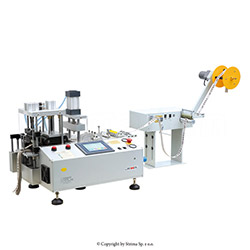 Automatic, multifunction cold knife cutting machine (right angle) with automatic tape feeding - JM-150L