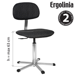 Industrial rotary chair - adjustable backrest, upholstered - pneumatic lift - ERGOLINIA EVO2 PROFI