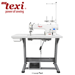 Upholstery and leather lockstitch machine with built-in Servo motor and control box (Mechatronic), bottom feed and walking foot, large hook - complete machine - TEXI WALKER WF SERVO PREMIUM