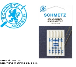 SCHMETZ jeans/denim needles 130/705H-J, 5pcs. 2x90, 2x100, 1x110