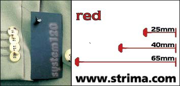 120 PPS RED 065 - Splinty 65 mm standard, červené, box 12.000 pcs