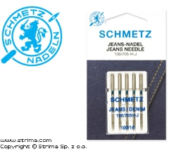 SCHMETZ jeans/denim needles 130/705H-J, 5pcs. 5x100