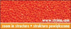 Siliconed foam orange, width 150 cm, thickness 10 mm